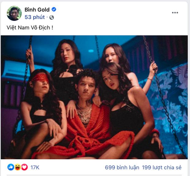 Một nam rapper tuyên bố dâng hiến thân xác cho phái nữ nếu Việt Nam thắng nhưng rất tiếc anh không được toại nguyện - Ảnh 1.