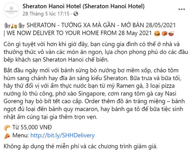 Khách sạn 5 sao cũng gồng mình qua mùa dịch: Sofitel Legend Metropole, JW Marriott Hanoi giao đồ ăn tận nhà, Sheraton Saigon mở lớp dạy nấu ăn cho trẻ em - Ảnh 3.