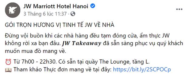 Khách sạn 5 sao cũng gồng mình qua mùa dịch: Sofitel Legend Metropole, JW Marriott Hanoi giao đồ ăn tận nhà, Sheraton Saigon mở lớp dạy nấu ăn cho trẻ em - Ảnh 2.