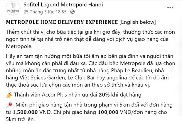 Khách sạn 5 sao cũng gồng mình qua mùa dịch: Sofitel Legend Metropole, JW Marriott Hanoi giao đồ ăn tận nhà, Sheraton Saigon mở lớp dạy nấu ăn cho trẻ em - Ảnh 1.