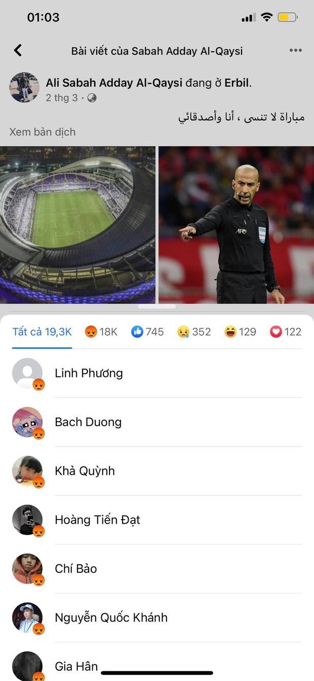 Đội tuyển Việt Nam thua quá nhanh trước UAE, Facebook trọng tài chính bị cộng đồng mạng thả phẫn nộ tăng theo từng giây! - Ảnh 6.