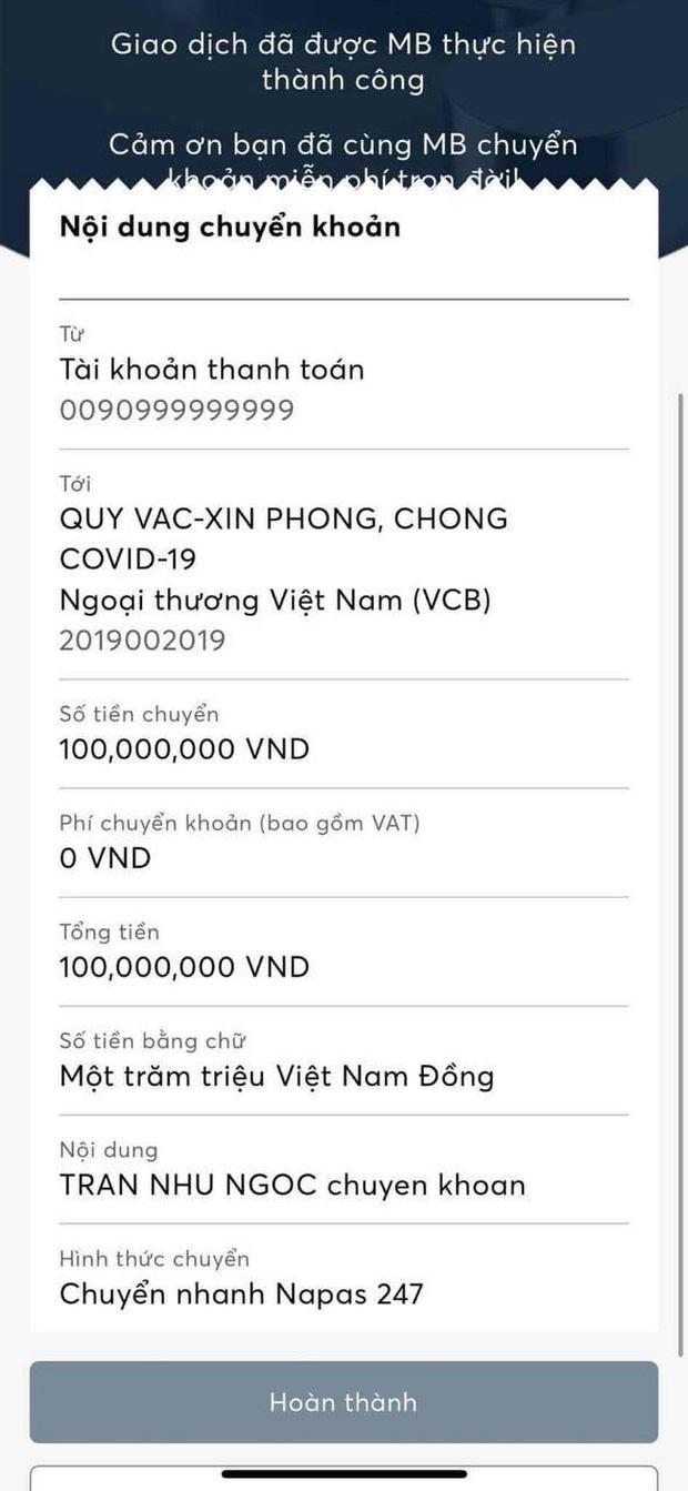 Nữ diễn viên hứa tặng quỹ vaccine 20 triệu/1 bàn thắng của tuyển Việt Nam, cuối cùng chuyển nóng con số khiến cả MXH ngỡ ngàng - Ảnh 2.