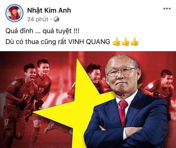 2h sáng dàn sao Việt vẫn xem đến phút cuối, vỡ oà vì kết quả của tuyển Việt Nam: Chúng ta thua 1 trận đấu nhưng làm nên lịch sử! - Ảnh 20.