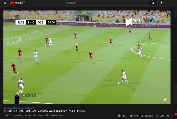 Dù thua UAE, tuyển Việt Nam vẫn phá vỡ kỷ lục của chính mình với 2,4 triệu người xem trực tiếp! - Ảnh 2.