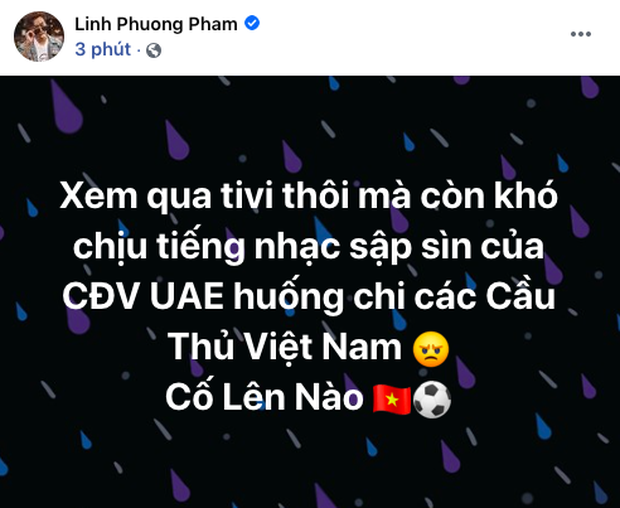90 phút cảm xúc lên xuống của sao Việt khi xem Việt Nam - UAE: Hiệp 1 lo lắng động viên, hiệp 2 hồi hộp đến vỡ oà vui sướng! - Ảnh 3.