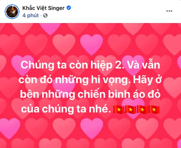 90 phút cảm xúc lên xuống của sao Việt khi xem Việt Nam - UAE: Hiệp 1 lo lắng động viên, hiệp 2 hồi hộp đến vỡ oà vui sướng! - Ảnh 5.