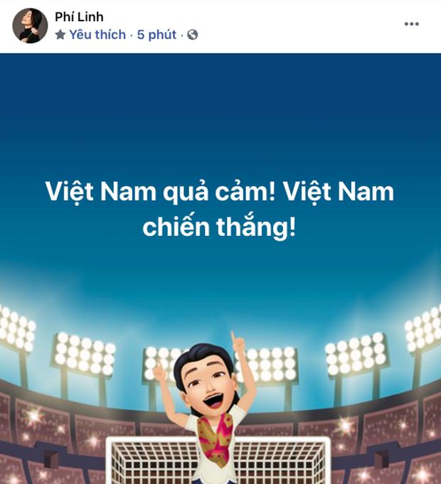 90 phút cảm xúc lên xuống của sao Việt khi xem Việt Nam - UAE: Hiệp 1 lo lắng động viên, hiệp 2 hồi hộp đến vỡ oà vui sướng! - Ảnh 8.