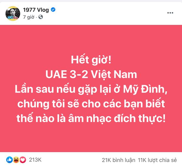 Sau trận quyết chiến Việt Nam - UAE, 1977 vlog bất ngờ mời đội bạn đến thưởng thức âm nhạc Việt Nam - Ảnh 2.