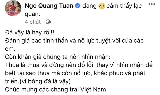 2h sáng dàn sao Việt vẫn xem đến phút cuối, vỡ oà vì kết quả của tuyển Việt Nam: Chúng ta thua 1 trận đấu nhưng làm nên lịch sử! - Ảnh 12.