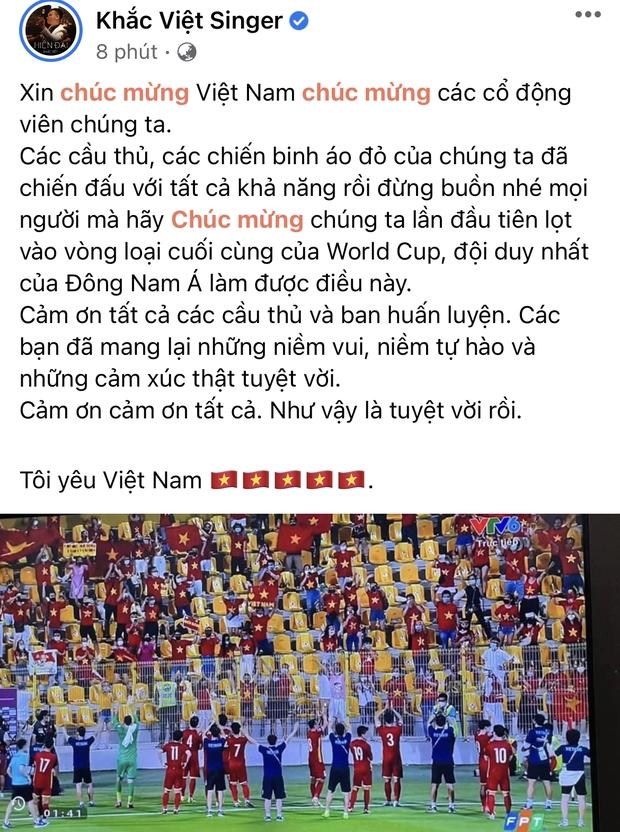 2h sáng dàn sao Việt vẫn xem đến phút cuối, vỡ oà vì kết quả của tuyển Việt Nam: Chúng ta thua 1 trận đấu nhưng làm nên lịch sử! - Ảnh 5.