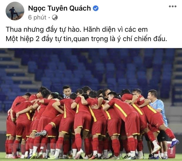 2h sáng dàn sao Việt vẫn xem đến phút cuối, vỡ oà vì kết quả của tuyển Việt Nam: Chúng ta thua 1 trận đấu nhưng làm nên lịch sử! - Ảnh 17.