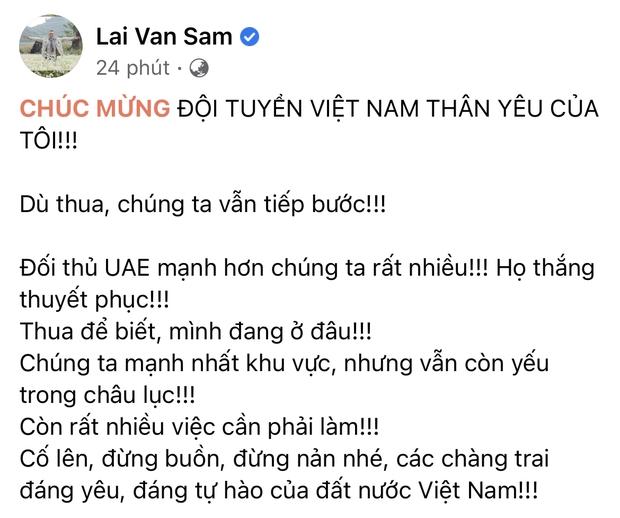 2h sáng dàn sao Việt vẫn xem đến phút cuối, vỡ oà vì kết quả của tuyển Việt Nam: Chúng ta thua 1 trận đấu nhưng làm nên lịch sử! - Ảnh 7.