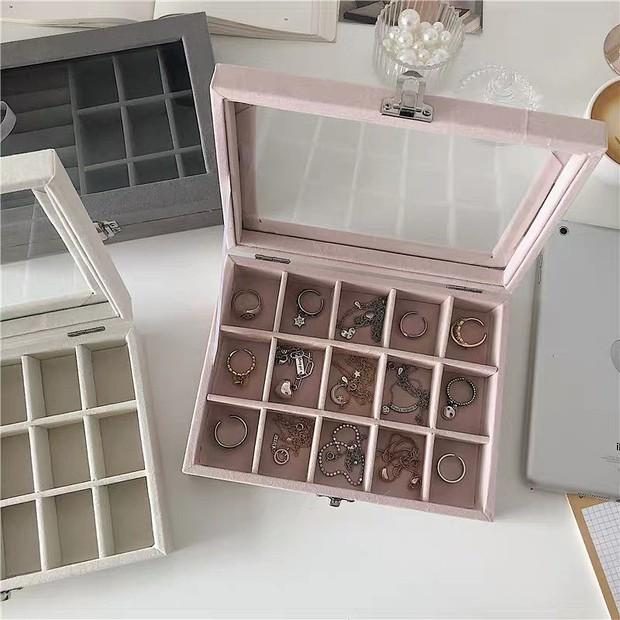 """Nhiều hộp đựng trang sức xịn mịn giá rất """"iu"""", chị em tội gì không mua để decor góc làm đẹp - Ảnh 3."""