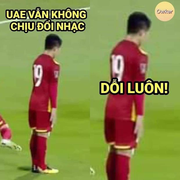 Sau trận đấu UAE - Việt Nam, cộng đồng mạng lại đua nhau chế meme cực hài hước, nhưng sao tâm điểm lại là âm nhạc? - Ảnh 16.