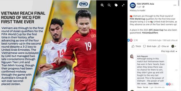 Người hâm mộ Đông Nam Á chúc mừng thành tích lịch sử của đội tuyển Việt Nam - Ảnh 1.