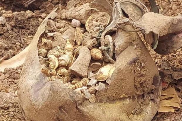 Tu sửa lại mảnh đất để bán kiếm lời, người đàn ông bất ngờ đào được cả một gia tài - Ảnh 1.