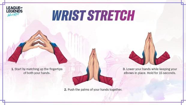 Sợ game thủ mỏi tay vì chơi quá nhiều, LMHT Tốc Chiến giới thiệu luôn bài tập yoga tay - Ảnh 2.