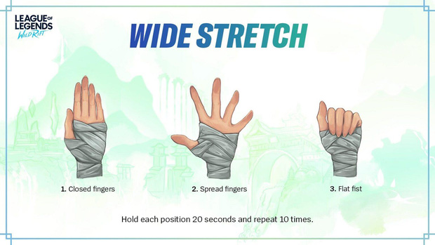 Sợ game thủ mỏi tay vì chơi quá nhiều, LMHT Tốc Chiến giới thiệu luôn bài tập yoga tay - Ảnh 3.