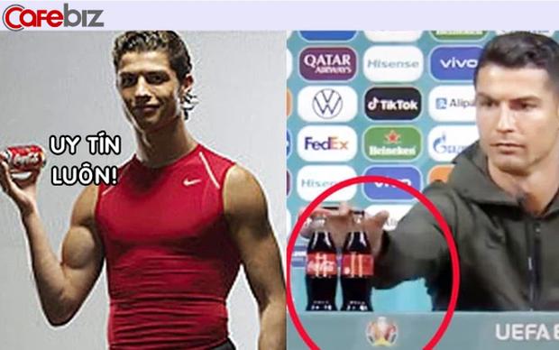 Ronaldo từng quảng cáo cho Coca Cola trước khi thẳng tay 'dẹp' 2 chai nước ngọt, khiến hãng mất 4 tỷ USD - Ảnh 1.