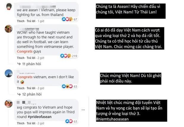Người hâm mộ Đông Nam Á chúc mừng thành tích lịch sử của đội tuyển Việt Nam - Ảnh 3.