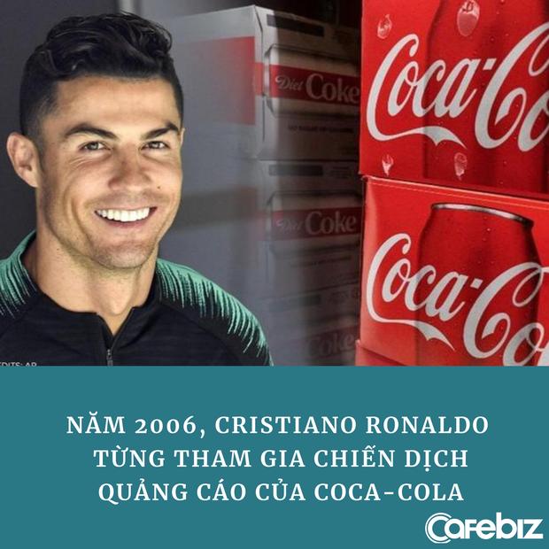 Ronaldo từng quảng cáo cho Coca Cola trước khi thẳng tay 'dẹp' 2 chai nước ngọt, khiến hãng mất 4 tỷ USD - Ảnh 3.