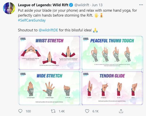 Sợ game thủ mỏi tay vì chơi quá nhiều, LMHT Tốc Chiến giới thiệu luôn bài tập yoga tay - Ảnh 1.
