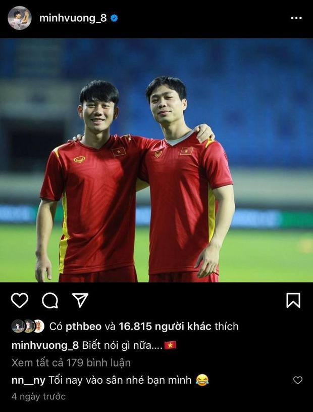 Có ai như Minh Vương: Chia tay vẫn làm bạn tốt, bồ cũ còn chúc một câu tiên tri trước thềm trận Việt Nam - UAE - Ảnh 3.