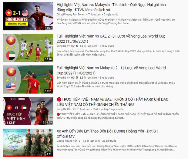 Góc đáng tiếc: Nếu không có loạt clip bóng đá của Đội tuyển Việt Nam, nữ nghệ sĩ Vpop này đã có MV top 1 trending đầu tiên! - Ảnh 2.