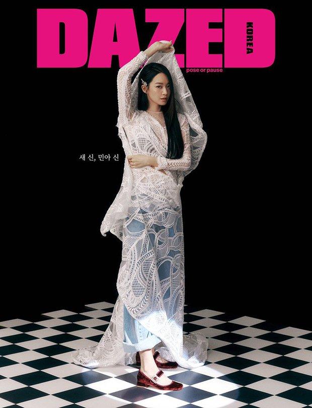 Shin Min Ah bùng nổ visual trong ảnh tạp chí đầu tiên sau tin kết hôn với Kim Woo Bin, nhìn body đúng kiểu toàn chân phái - Ảnh 5.