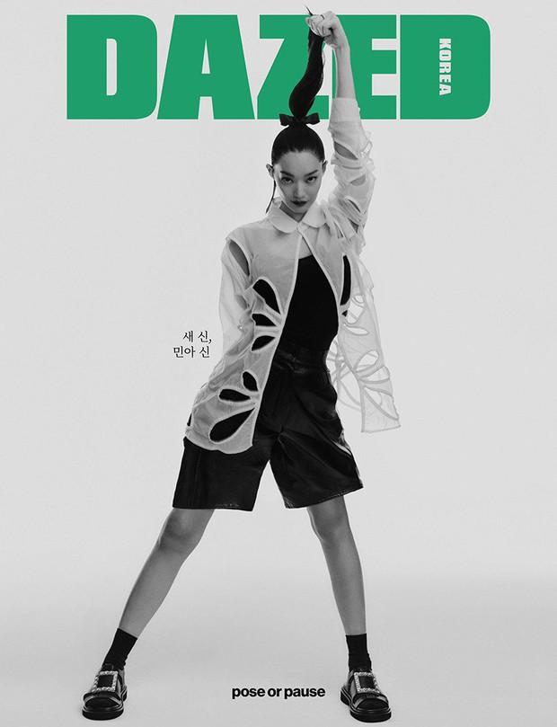 Shin Min Ah bùng nổ visual trong ảnh tạp chí đầu tiên sau tin kết hôn với Kim Woo Bin, nhìn body đúng kiểu toàn chân phái - Ảnh 4.