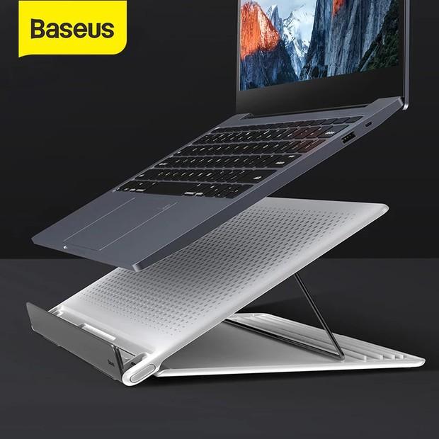 Chị em nào đang mỏi mắt gù lưng vì chạy deadline thì sắm ngay giá đỡ laptop này là chuẩn - Ảnh 9.