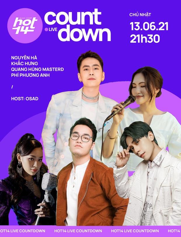 Quang Hùng MasterD thể hiện ca khúc mới ra lò tại HOT14 Live COUNTDOWN, fan Thái lập tức tràn vào nức nở - Ảnh 1.