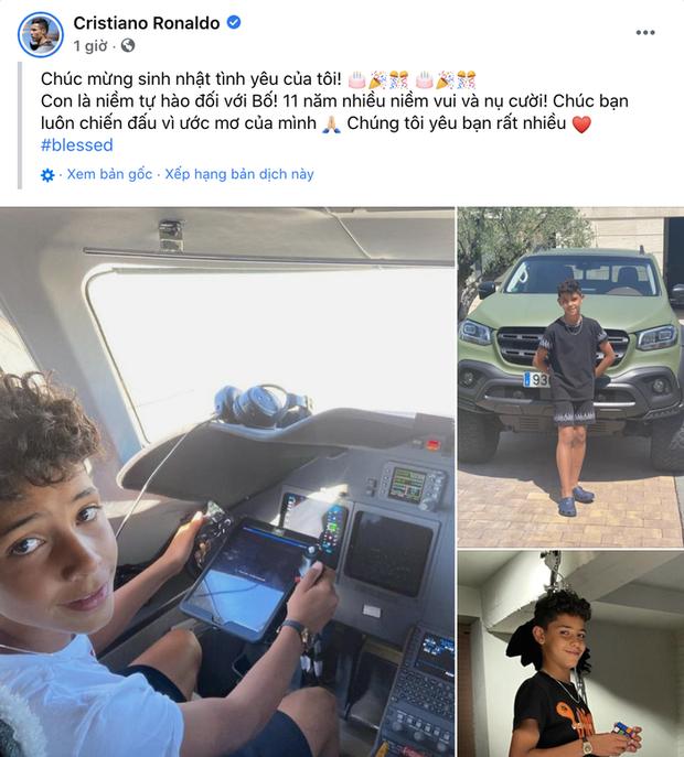 Ronaldo mua xe 6 tỷ cho cậu cả nhân dịp sinh nhật 11 tuổi? - Ảnh 1.