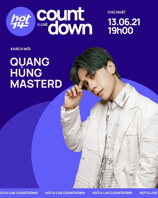 Quang Hùng MasterD thể hiện ca khúc mới ra lò tại HOT14 Live COUNTDOWN, fan Thái lập tức tràn vào nức nở - Ảnh 2.