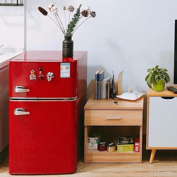 Tủ lạnh mini nội địa Trung style retro siêu xinh đang hot: Bản dupe của tủ Smeg đắt đỏ, giá săn sale chỉ 4 triệu - Ảnh 2.