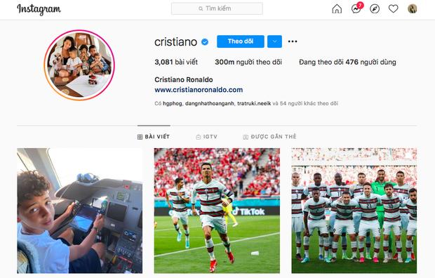Thi đấu xuất sắc, Ronaldo phá kỷ lục của chính mình trên Instagram với 300 triệu follower, vậy Messi vị trí nào? - Ảnh 1.