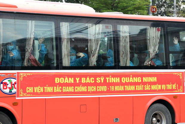Đoàn y bác sĩ Quảng Ninh hoàn thành nhiệm vụ chi viện cho tâm dịch Bắc Giang, nhận bằng khen của Thủ tướng Chính phủ - Ảnh 15.