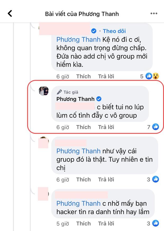 """Cú twist bất ngờ: 5 lần 7 lượt phủ nhận cuối cùng Phương Thanh cũng thừa nhận có tồn tại nhóm chat """"Nghệ sĩ Việt""""? - Ảnh 2."""