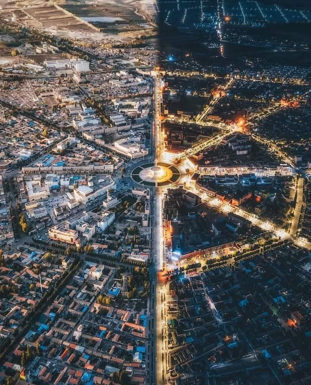 """Ngỡ ngàng trước cảnh hoàng hôn ở """"thành phố bát quái"""" của Trung Quốc, đẹp ngoạn mục như lạc vào vũ trụ song song! - Ảnh 3."""