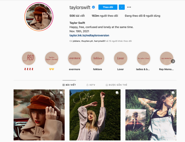 Taylor Swift sở hữu 163 triệu người theo dõi trên Instagram, xếp thứ 13 toàn cầu nhưng sao không có nổi một bình luận? - Ảnh 2.