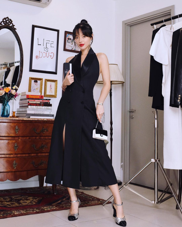 """Khánh Linh sang chảnh với """"váy thư ký"""" 2 triệu của Zara, bonus thêm cho bạn vài mẫu tương tự mà rẻ hơn nhiều  - Ảnh 1."""