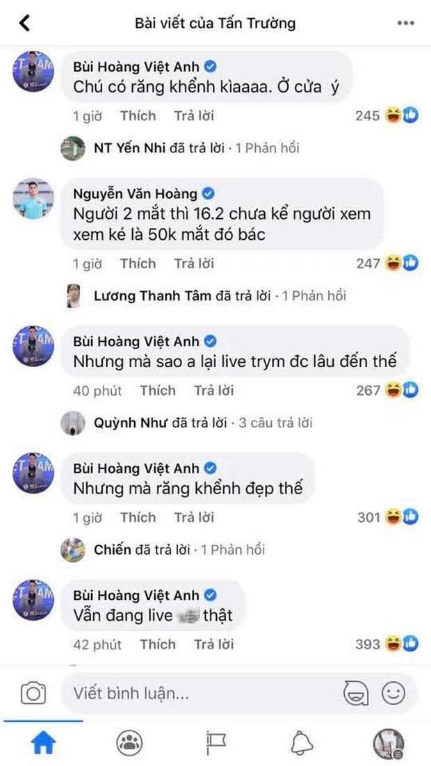 Ông chú Tấn Trường livestream thôi mà được cả dàn trai đẹp tuyển quốc gia vào bình luận tăng tương tác chóng mặt - Ảnh 5.