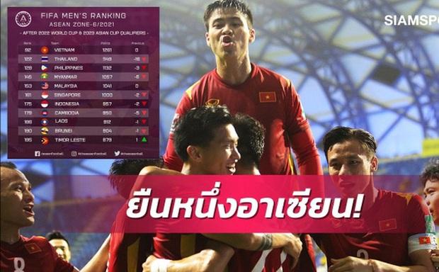 Báo chí Thái Lan thất vọng khi đội nhà bị loại, lại còn để đội tuyển Việt Nam bỏ xa 30 bậc trên BXH FIFA tháng 6 - Ảnh 1.