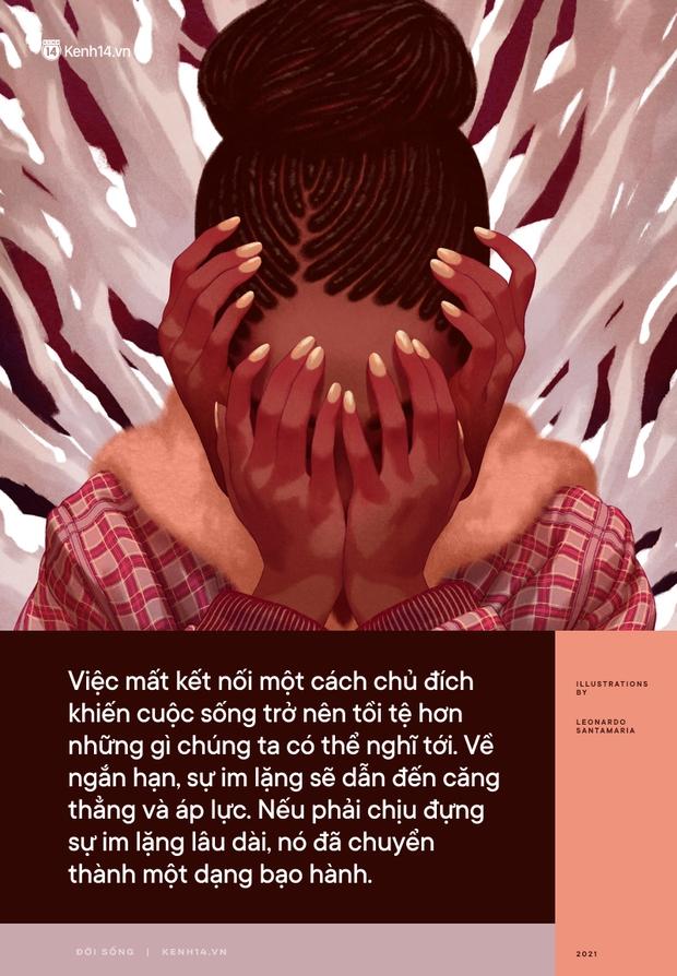 Khi chúng ta ngừng giao tiếp và phớt lờ nhau: Sự im lặng độc hại hay một bước gần hơn với bạo hành tinh thần? - Ảnh 1.