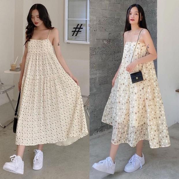 """Giờ sắm váy hai dây hoa nhí là """"chuẩn bài"""" rồi chị em, vừa xinh vừa mát mà giá lại hạt dẻ - Ảnh 9."""