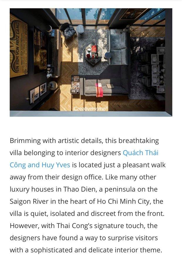 Villa của Thái Công được lên tạp chí nước ngoài nhưng dân tình phát hiện ra một chi tiết làm giảm giá trị - Ảnh 2.
