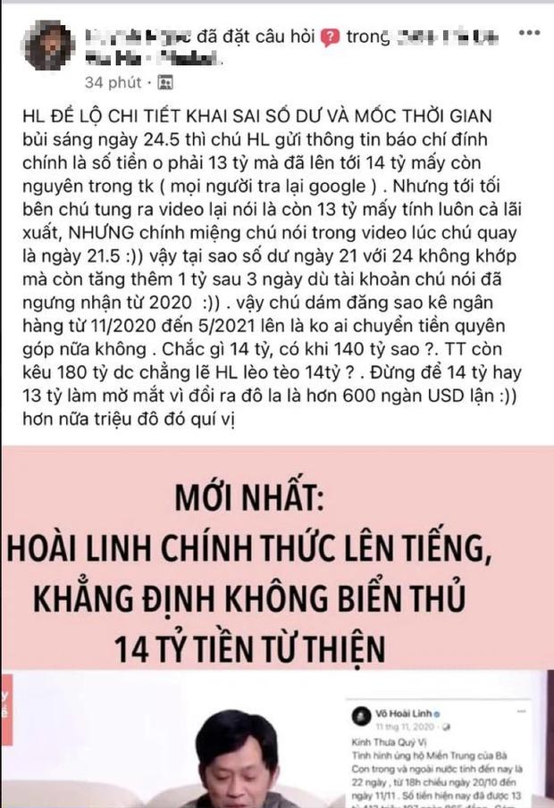 NS Hoài Linh bị netizen tố khai chênh lệch 14,67 tỷ thành 13,7 tỷ tiền từ thiện, thực hư ra sao? - Ảnh 2.