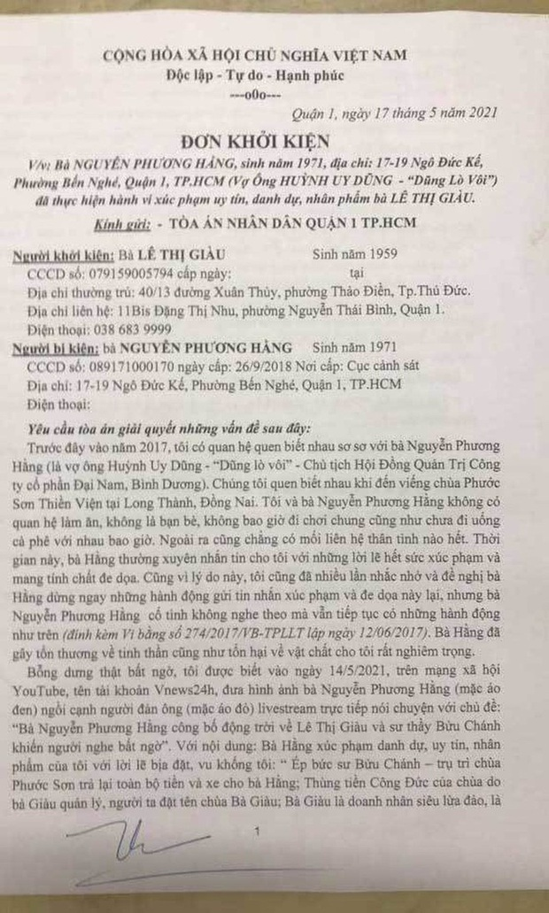 Chân dung doanh nhân Lê Thị Giàu - người khởi kiện đòi bà Phương Hằng 1.000 tỷ - Ảnh 1.