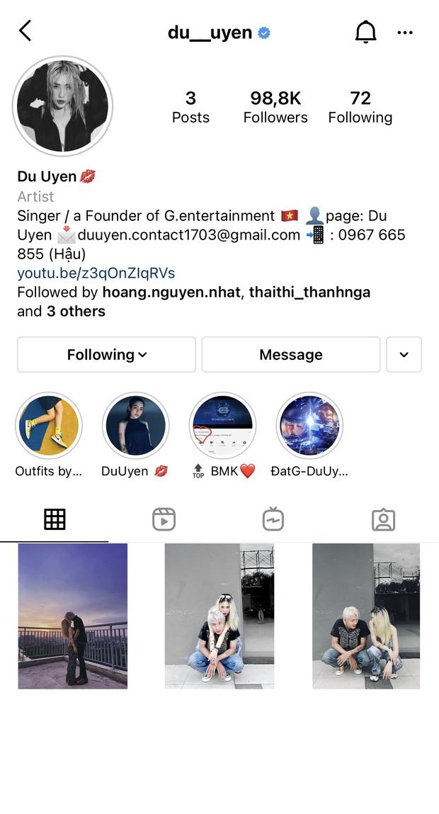Hậu công khai bồ mới, vô  tình hay cố ý Du Uyên lẫn Đạt G đều làm điều này trên Instagram   - Ảnh 2.