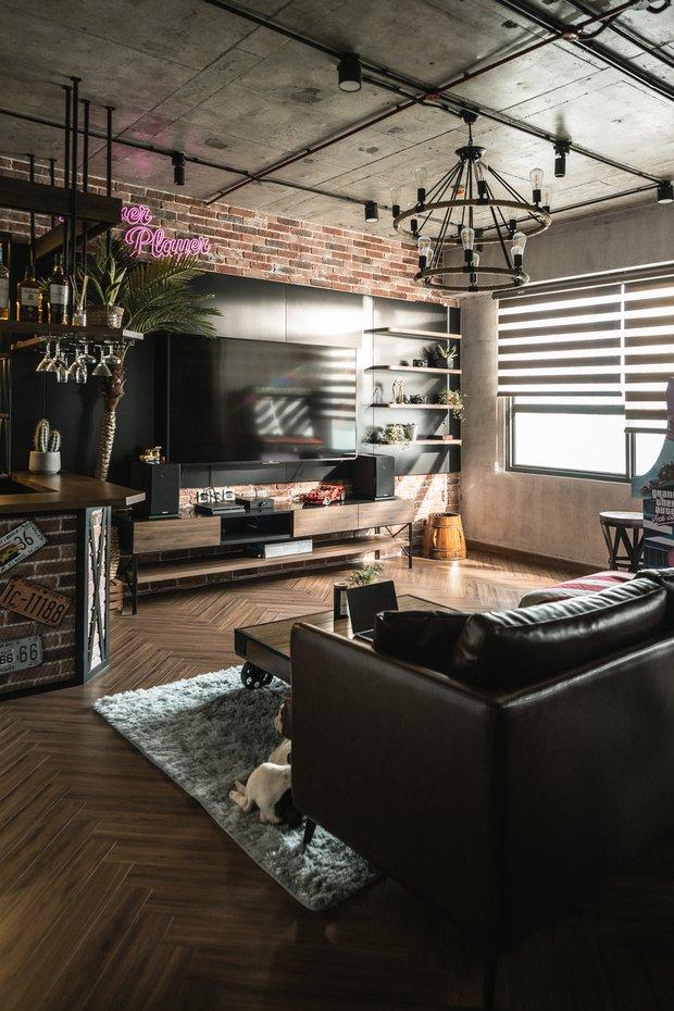Chàng trai bỏ 800 triệu thiết kế căn hộ đậm chất dân chơi, đầu tư cả quầy bar để chill tại nhà mùa dịch - Ảnh 4.